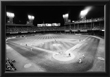 Tiger Stadium Detroit Tigers Black White Archival Photo Poster Posters