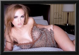Sydney Barlette Leopard Lingerie Photo Poster by Mario Brown Prints