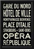 Paris Metro Stations Vintage RetroMetro Travel Poster Posters