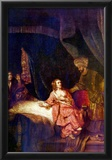 Rembrandt Joseph is Accused by Potiphars Woman Art Print Poster Print