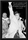 Vince Lombardi Get Back Up Quote Sports Archival Photo Poster Posters