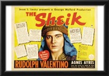 The Sheik Movie Rudolph Valentino Agnes Ayres Adolphe Menjou Poster Print Photo