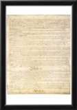 U.S. Constitution Page 3 Art Poster Print Prints