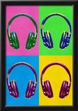 Headphones Pop Art Poster Posters