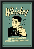 Whiskey Keeping Irish From Running World Since 1763 Funny Retro Poster Posters
