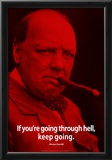 Winston Churchill Keep Going iNspire Quote Poster Print