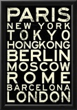 Cities of the World RetroMetro Travel Poster Posters