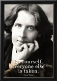 Oscar Wilde Be Yourself Quote Poster Posters