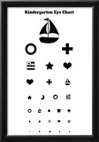Kindergarten Eye Chart Reference Poster Posters