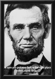 Abraham Lincoln Stand Firm Quote History Poster Print