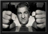 Rocky Marciano Fists Archival Photo Sports Poster Print Poster