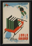 WPA (A Year of Good Reading Ahead) Art Poster Print Posters