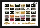 Steez Life Is A Mixtape - Orange Art Print Poster Posters