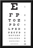 Eye Chart 10-Line Reference Poster Prints