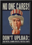 No One Cares! Social Networking Poster