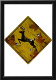 Deer Crossing Hunting Sign Print