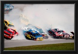 NASCAR Crash 1993 Daytona 500 Archival Photo Poster Poster