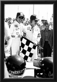 Johnny Rutherford and Jan-Michael Vincent 1976 Archival Photo Poster Prints