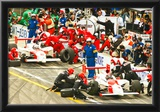 Gil de Ferran and Helio Castroneves Pit Stop Archival Photo Poster Poster