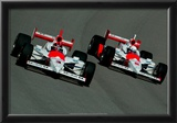 Helio Castroneves and Gil de Ferran IndyCar Archival Photo Poster Posters