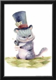 Teatime With The Cheshire Cat Print by Kei Acedera
