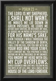 Psalm 23 Prayer Art Print Poster Prints