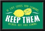 Free Lemons Print by  Snorg Tees