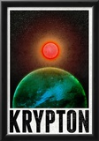 Krypton Retro Travel Poster Poster