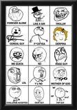 Rage Comics Chart Meme Poster Prints