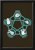 Rock Paper Scissors Lizard Spock Poster by  Snorg Tees