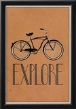 Explore Retro Bicycle Player Art Poster Print Print