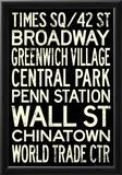 New York City Subway Style Vintage RetroMetro Travel Poster Prints