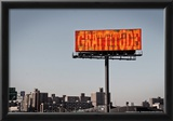 Gratitude Billboard in NYC Poster