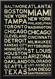 Major League Baseball Cities Vintage Style Prints