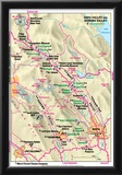 Michelin Official Napa and Sonoma Valley Map Art Print Poster Prints