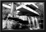 Frank Lloyd Wright Falling Waters Archival Photo Poster Posters