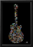 Rock Guitar Buttons by Gdogs Cosmic Rock Poster Photo