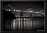 Bay Bridge by Night Photo Poster Posters by Mike Dillon