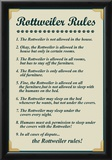 Rottweiler House Rules Prints