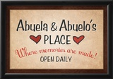 Abuela and Abuelo's Place Poster