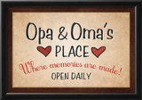 Opa and Omas Place Posters
