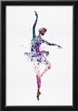Ballerina Dancing Watercolor 2 Posters