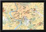 Michelin Official Museums of Rome Map Art Print Poster Posters