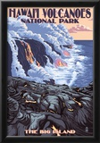 The Big Island, Hawaii - Lava Flow Scene Posters