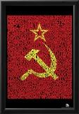 Soviet Flag Text Poster Print