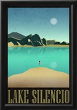 Lake Silencio Retro Travel Poster Print