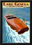 Lake Geneva, Wisconsin - Chris Craft Wooden Boat Posters