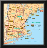 Michelin Official New England Map Art Print Poster Prints