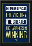 Pele Winning Quote (Brazil) Posters