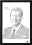 Ronald Reagan Berlin Speech Text Poster Print